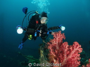 Underwater Photographer, Truk Lagoon by David Gilchrist